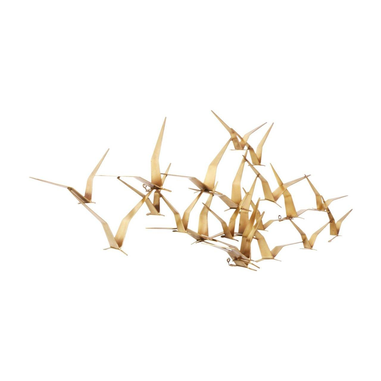 "Curtis Jere Brass ""Flock Of Birds"" Wall Art Sculpture For Artisan With Regard To Flock Of Birds Wall Art (Image 9 of 20)"