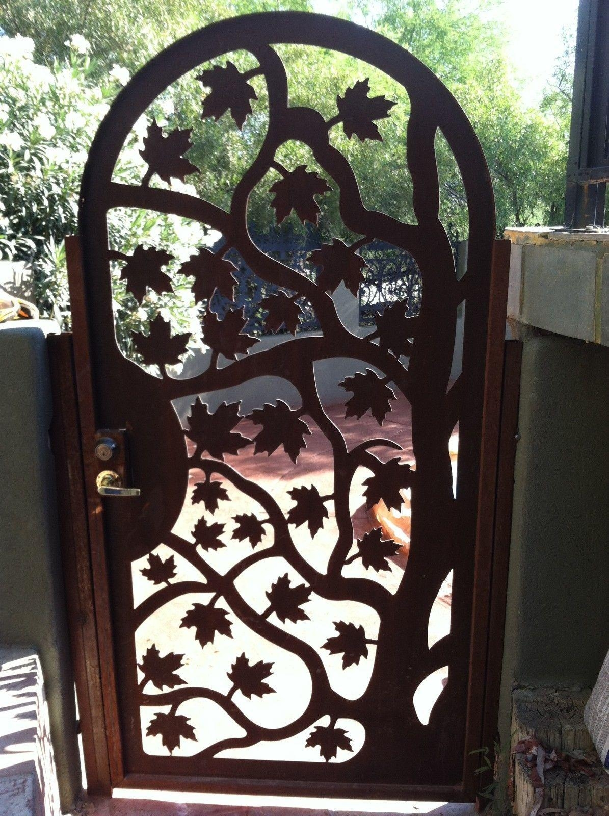 Custom Gates And Fences | Custommade In Iron Gate Wall Art (Image 5 of 20)