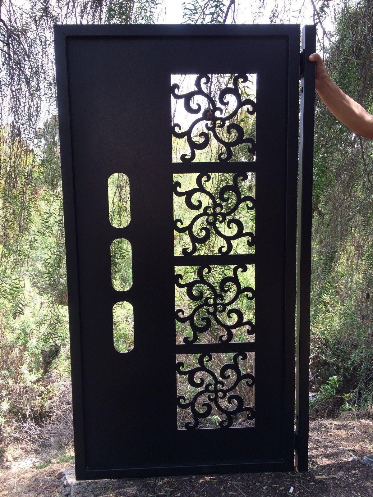Custom Gates And Fences | Custommade Regarding Metal Gate Wall Art (Image 4 of 20)