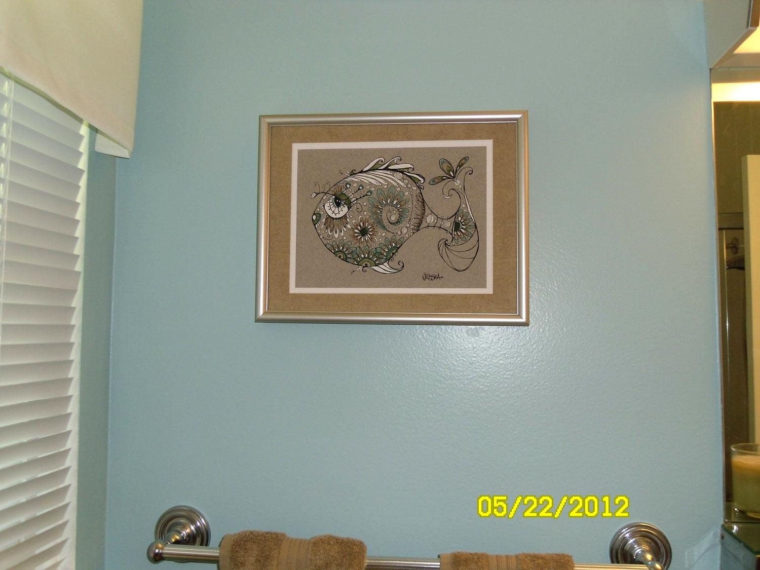 Customer Appreciation Photo – George – Yes, He's A Pretty Fish Regarding Bathroom Wall Hangings (View 14 of 20)