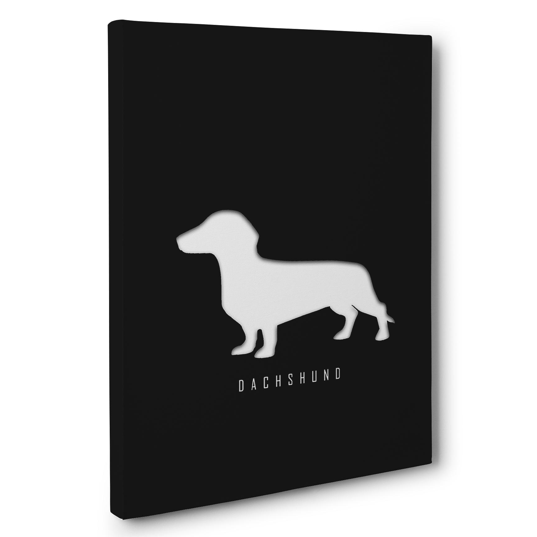 Dachshund Silhouette Canvas Wall Art – Paper Blast Throughout Dachshund Wall Art (View 9 of 20)