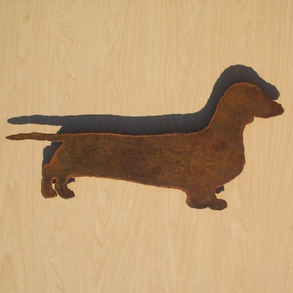 Dachshund Wall Art 22 Wide Silhouette Metal Dog Art In Dachshund Wall Art (View 2 of 20)