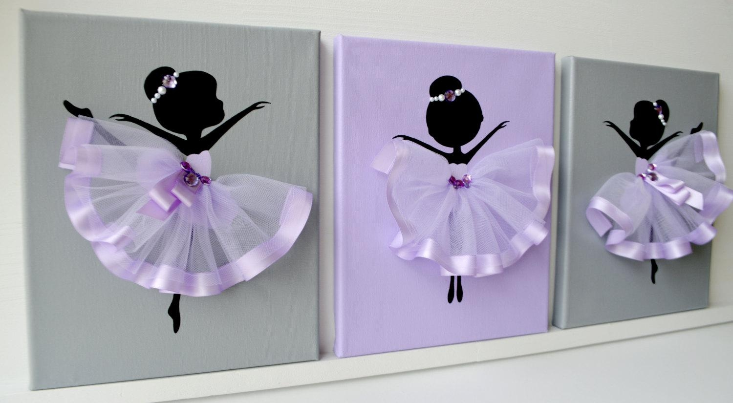 Dancing Ballerinas Wall Decor (View 20 of 20)