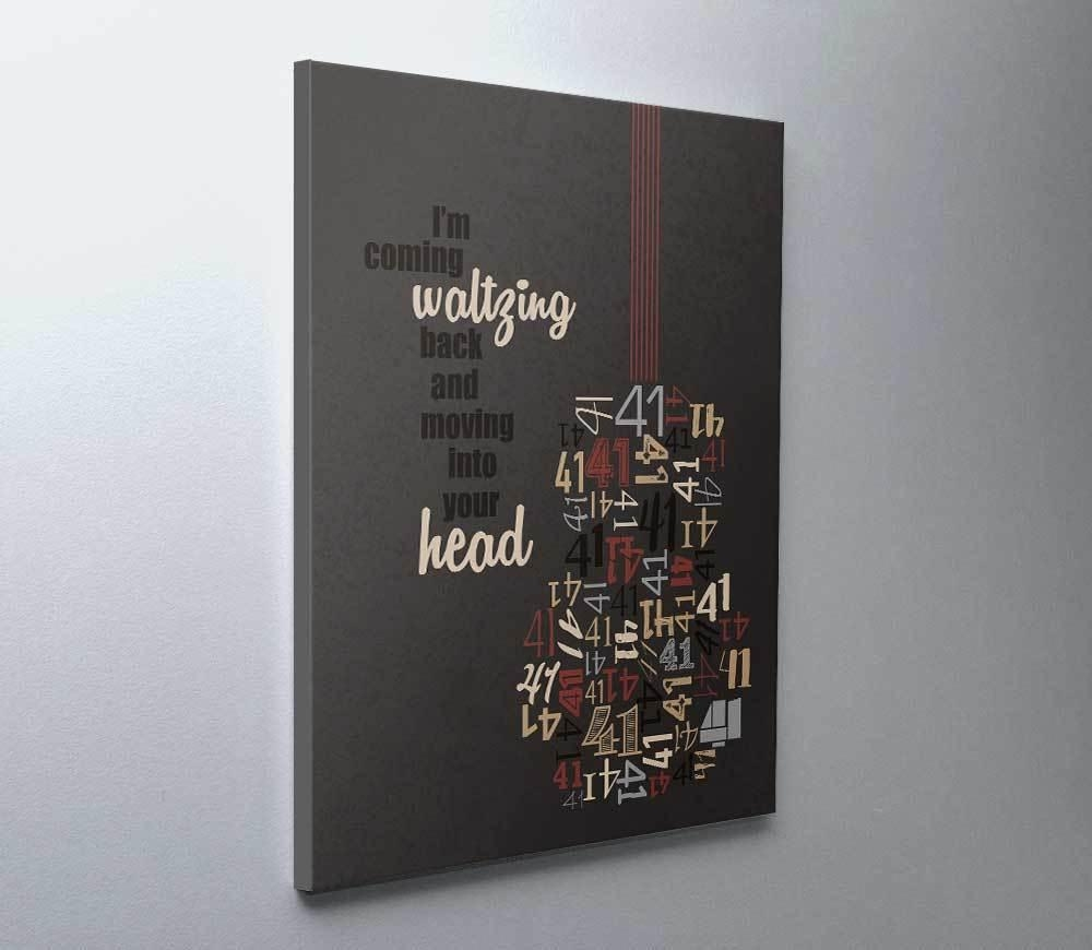 Dave Matthews Band Art Poster No # 41 Song Lyrics Wall Art Print Pertaining To Music Lyrics Wall Art (View 20 of 20)