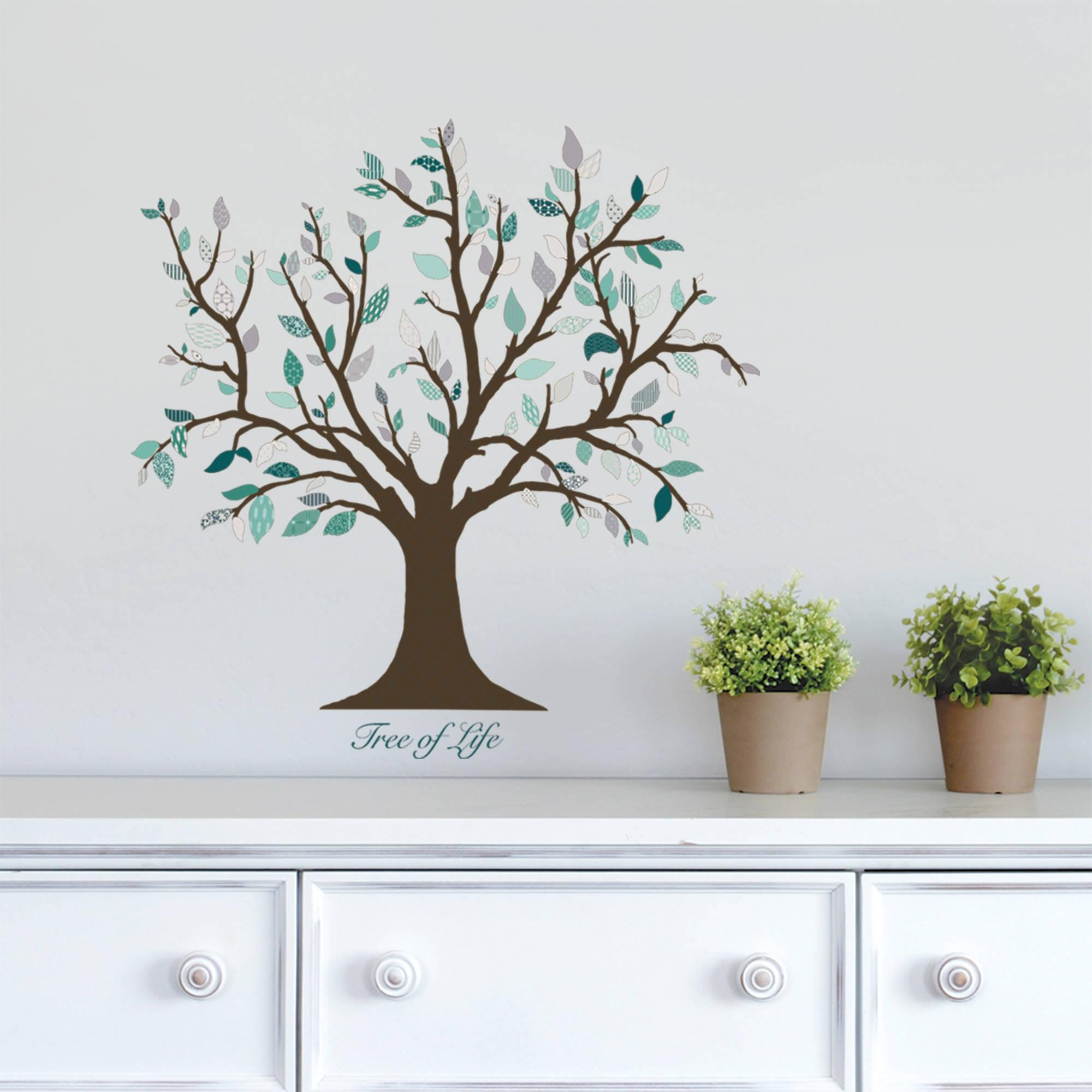 Dcwv Vinyl Tree Of Life Wall Decal – Walmart Regarding Walmart Wall Stickers (View 16 of 20)
