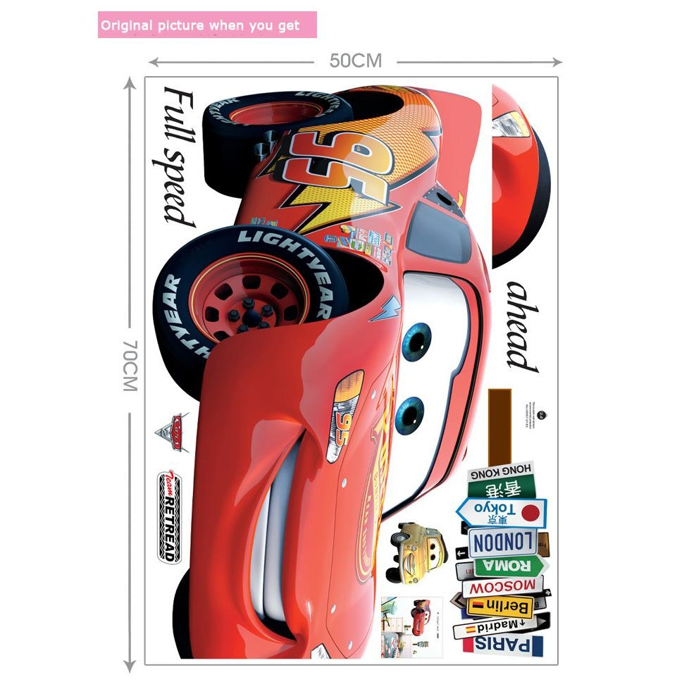 Decal Machine Picture – More Detailed Picture About Vinyl Cartoon With Regard To Lightning Mcqueen Wall Art (View 7 of 20)