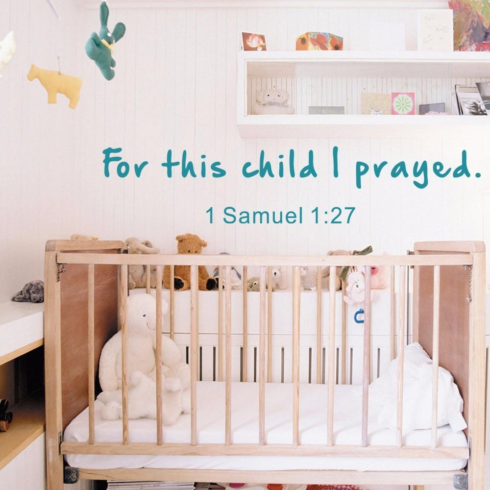 Decal Water Transfer Paper Picture – More Detailed Picture About Regarding Nursery Bible Verses Wall Decals (Image 8 of 20)