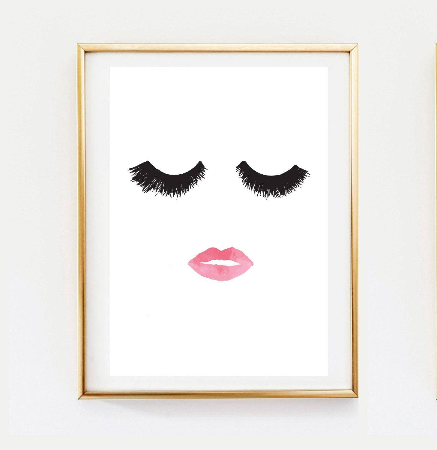 Decor : 18 Branded Adorable Glamorous Wall Art Ideas Coco Chanel With Regard To Glamorous Wall Art (Image 3 of 20)