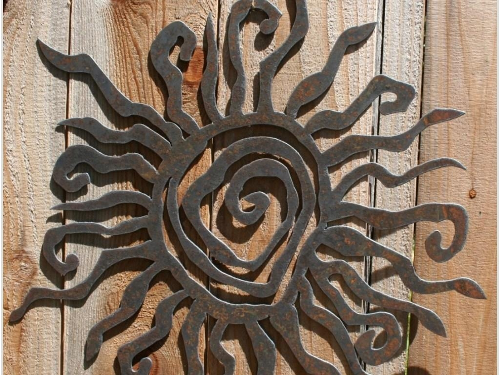 Decor : 22 Stunning Outdoor Wall Art Ideas Mounted Metal Decor Throughout Copper Outdoor Wall Art (Image 9 of 20)