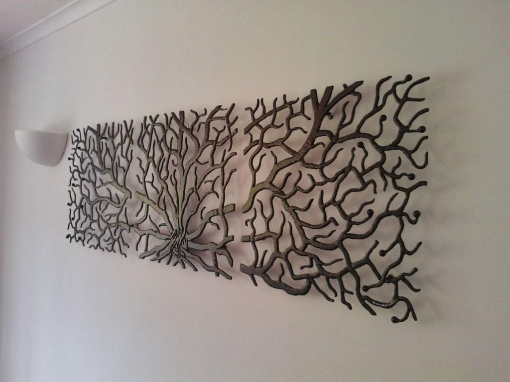 Decor : 25 Winning Outdoor Wall Art Ideas Tree Shape Decor Metal With Regard To Cream Metal Wall Art (Image 5 of 20)
