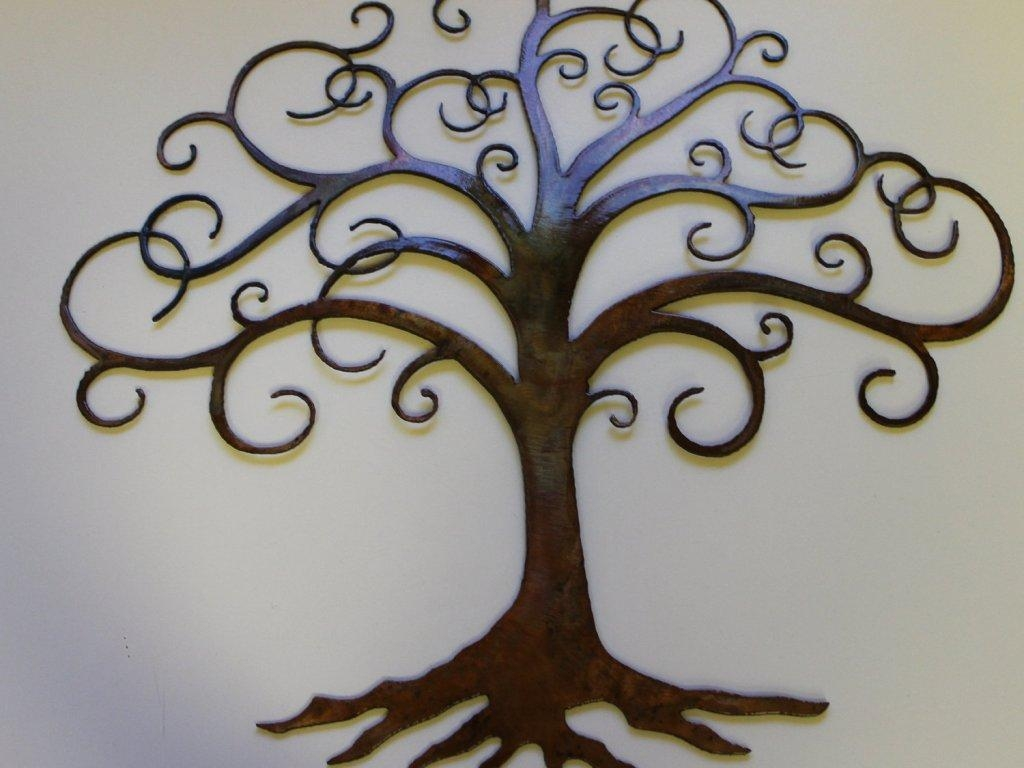Decor : 25 Winning Outdoor Wall Art Ideas Tree Shape Decor Metal Within Cream Metal Wall Art (View 8 of 20)