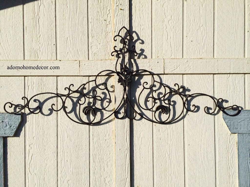 Decor : 40 Home Decor With Wrought Iron Wall Art Tuscan Decor Intended For Wrought Iron Garden Wall Art (View 16 of 20)