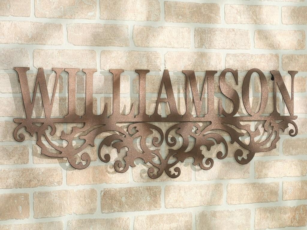Decor : 51 Nice Looking Outdoor Wall Art Ideas Metal Letters Name Inside Copper Outdoor Wall Art (Image 10 of 20)
