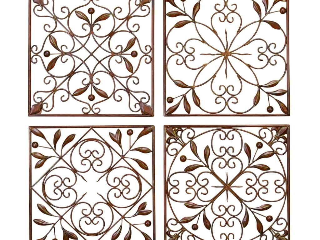 Decor : 95 Home Decor With Wrought Iron Wall Art Filigree Wall Art Within Filigree Wall Art (View 4 of 20)