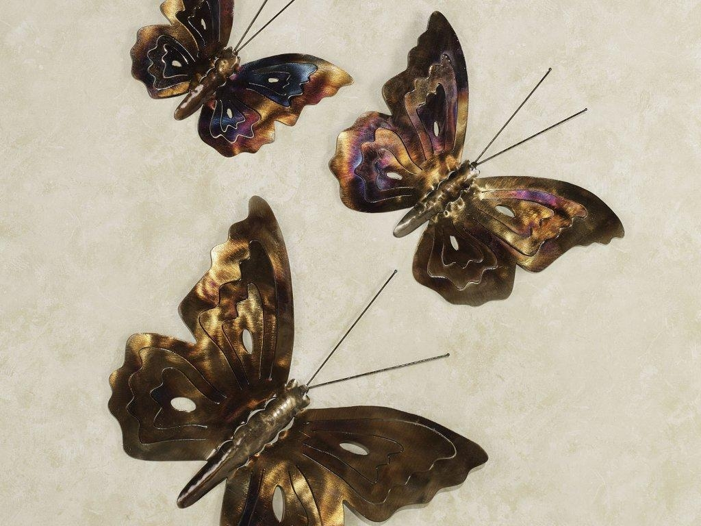 Decor : 98 Metal Butterfly Wall Art Metal Butterfly Wall Decor Intended For Large Metal Butterfly Wall Art (View 20 of 20)
