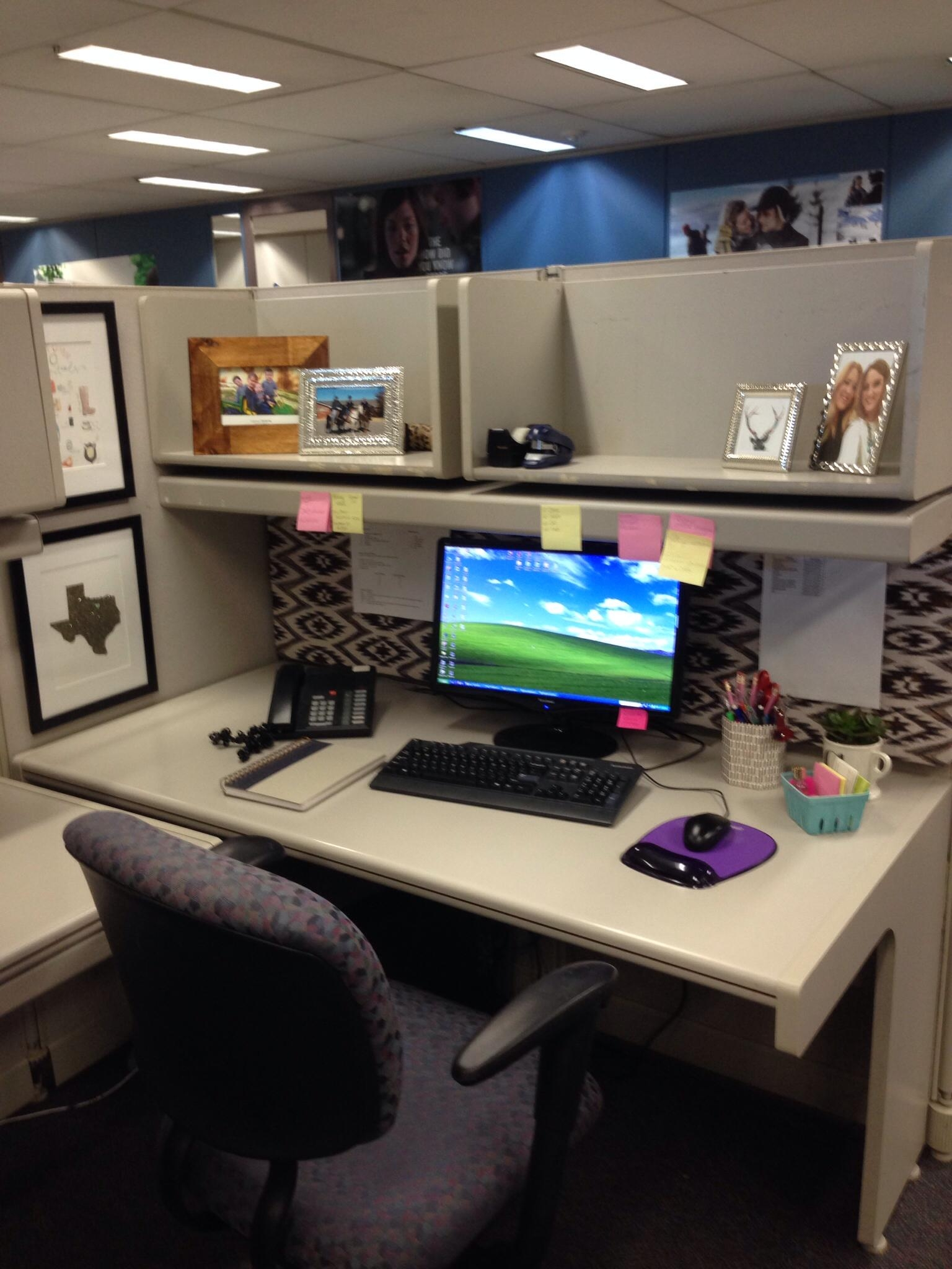 Decor: Black Leather Office Chair Design Ideas With Cubicle Throughout Cubicle Wall Art (View 14 of 20)