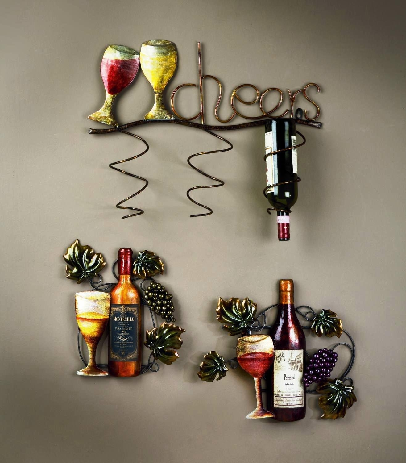 20 Best Wine Metal Wall Art Wall Art Ideas