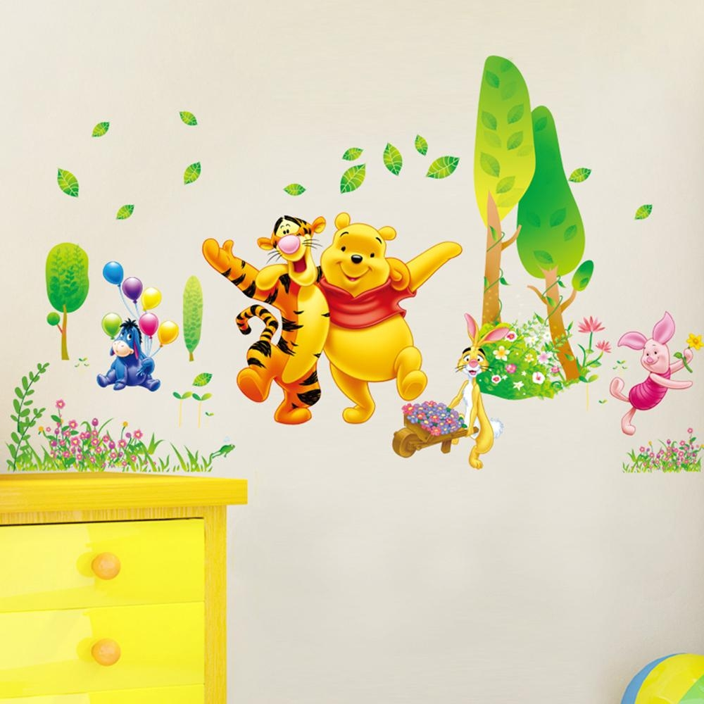 Decor Winnie The Pooh Wall Decals Kids Bedroom & Baby Nursery Regarding Winnie The Pooh Wall Art (View 17 of 20)