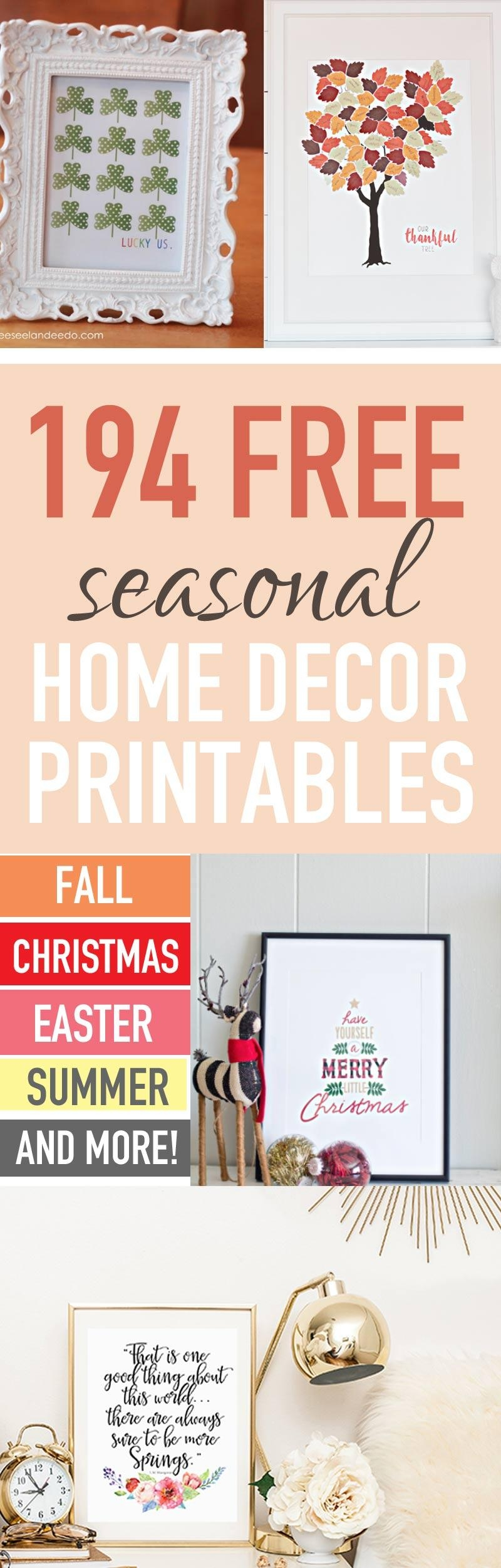 Decorate Your Home Seasonally For Free (250+ Free Home Decor Pertaining To Seasonal Wall Art (View 14 of 20)