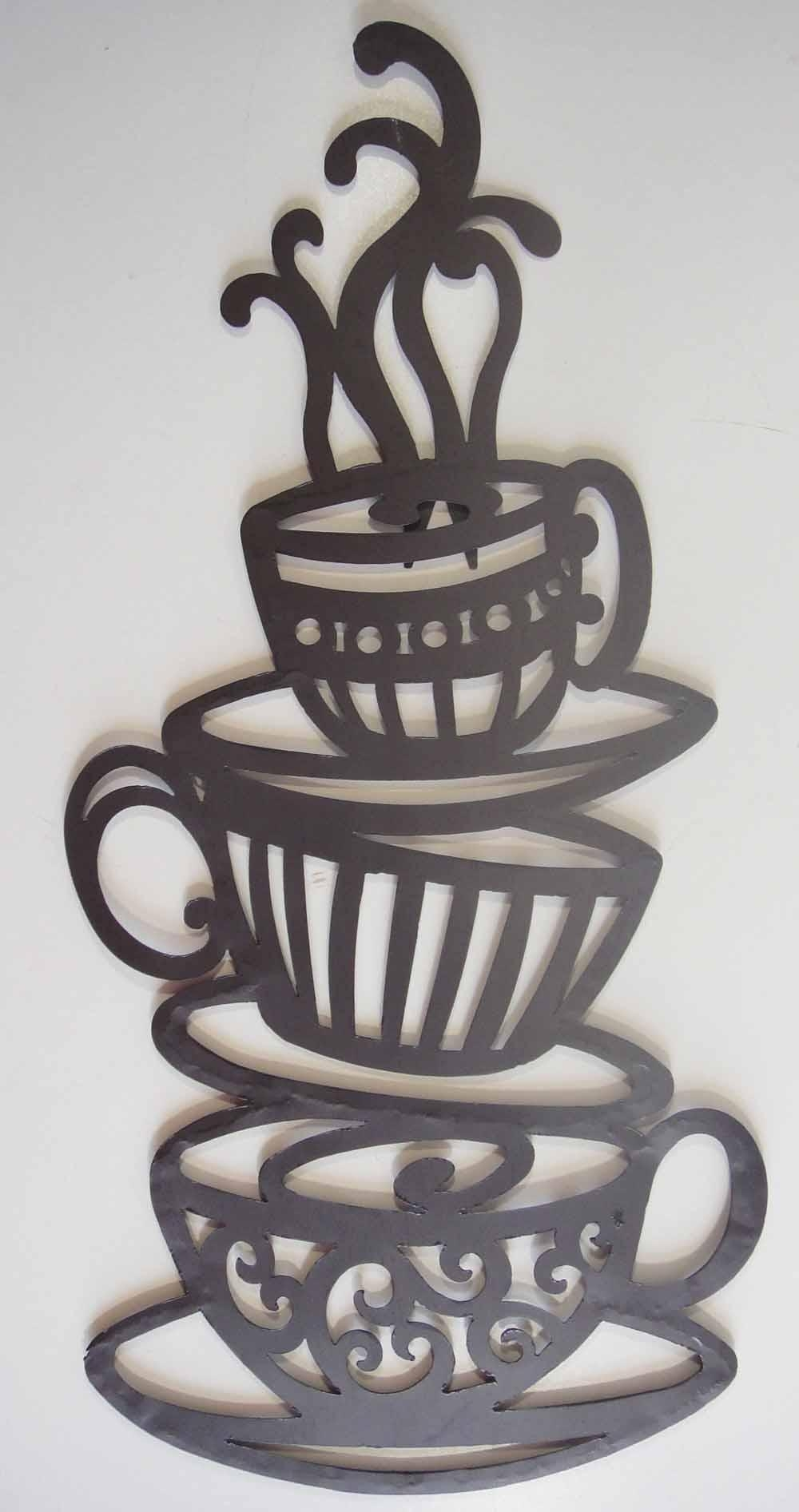 Decoration. Coffee Wall Art - Home Decor Ideas with regard to Metal Coffee Cup Wall Art