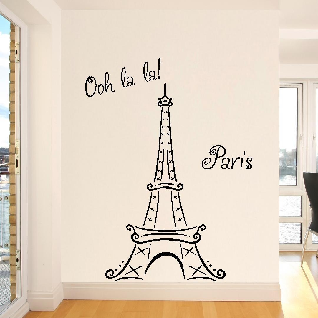 20 photos eiffel tower wall art wall art ideas for Eiffel tower decorations for the home