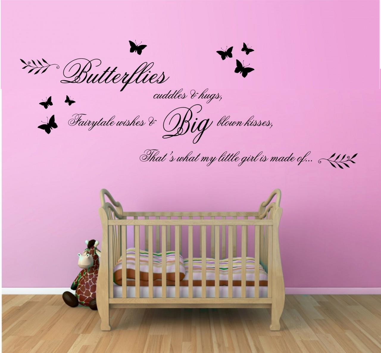 Decoration Ideas: Epic Picture Of 3D Black And Pink Butterfly Wall Inside Pink Butterfly Wall Art (Image 13 of 20)