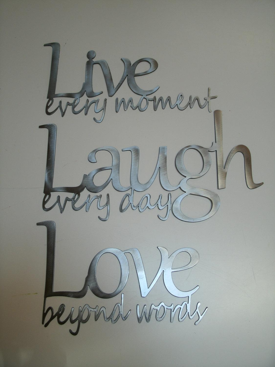 Featured Image of Live Love Laugh Metal Wall Art