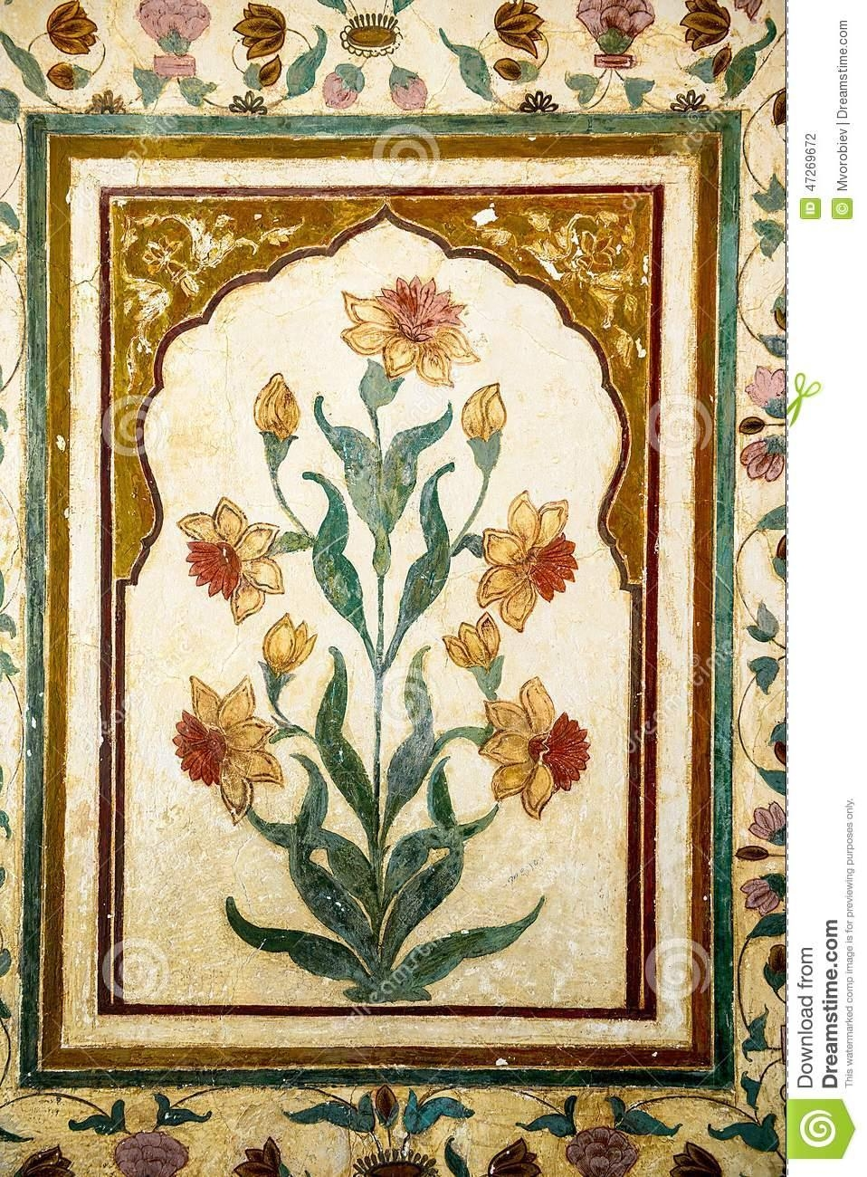 Decoration Of Precious Stones, Taj Mahal Walls Stock Photo – Image With Taj Mahal Wall Art (Image 3 of 20)