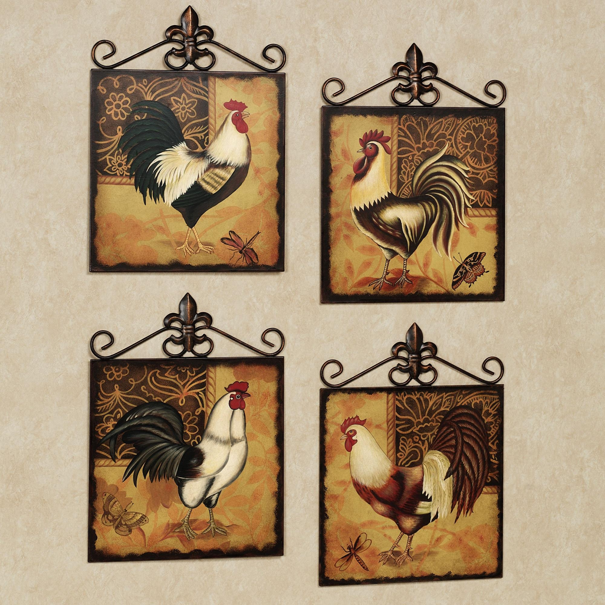 Good Featured Image Of Metal Rooster Wall Decor