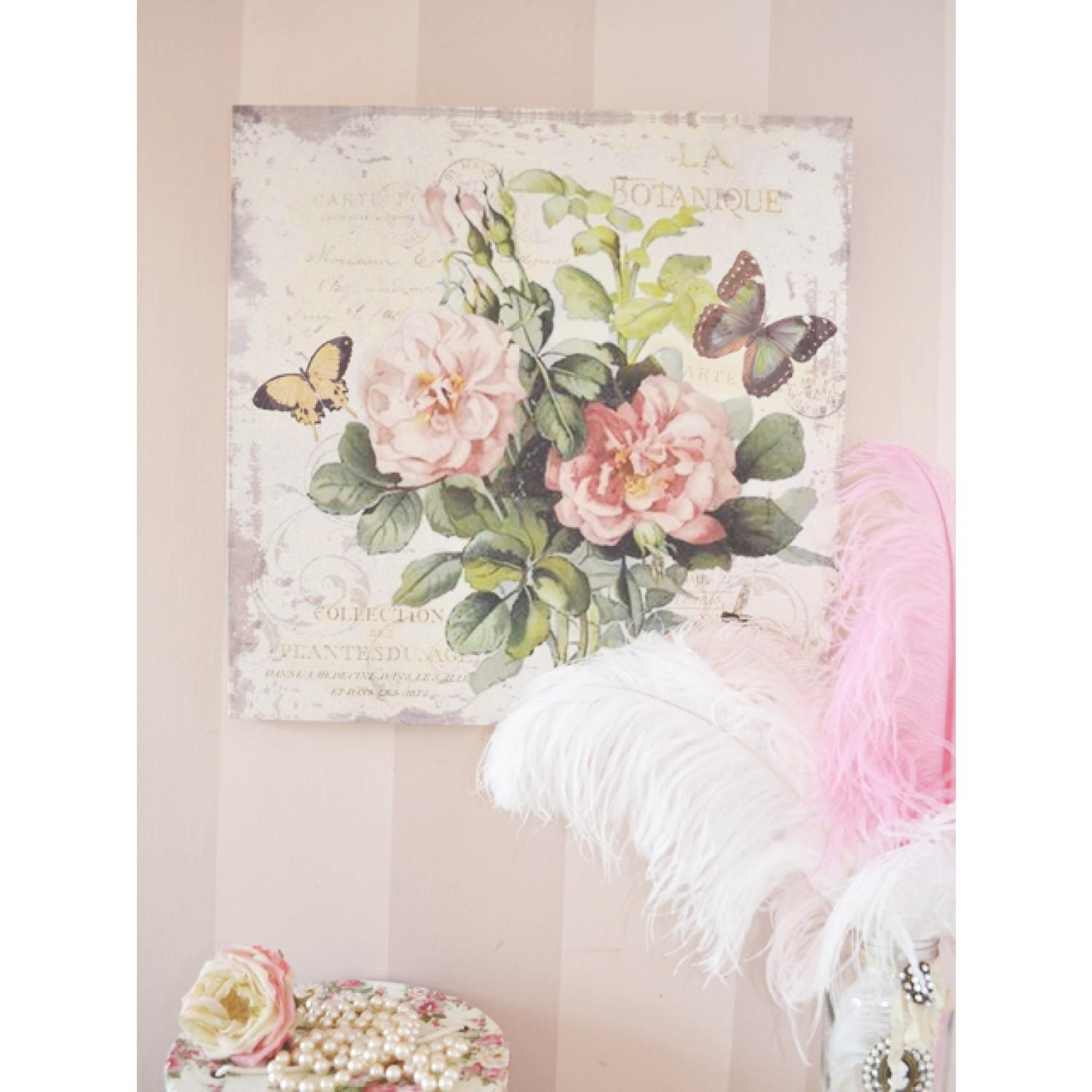 20 collection of shabby chic canvas wall art wall art ideas - Quadri da camera ...