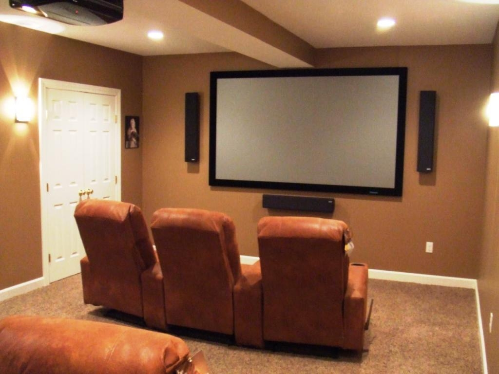 Decorations : Marvelous Modern Small Home Theater Design Black In Media Room Wall Art (Image 5 of 20)