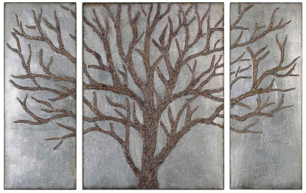 Decorative Metal Wall Art Panels – Homes Zone Intended For Horizontal Metal Wall Art (Image 7 of 20)