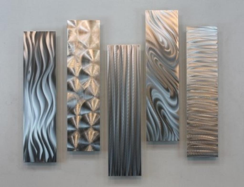 Decorative Metal Wall Art Panels Silver Rectangular Metal Wall Pertaining To Rectangular Metal Wall Art (Image 4 of 20)