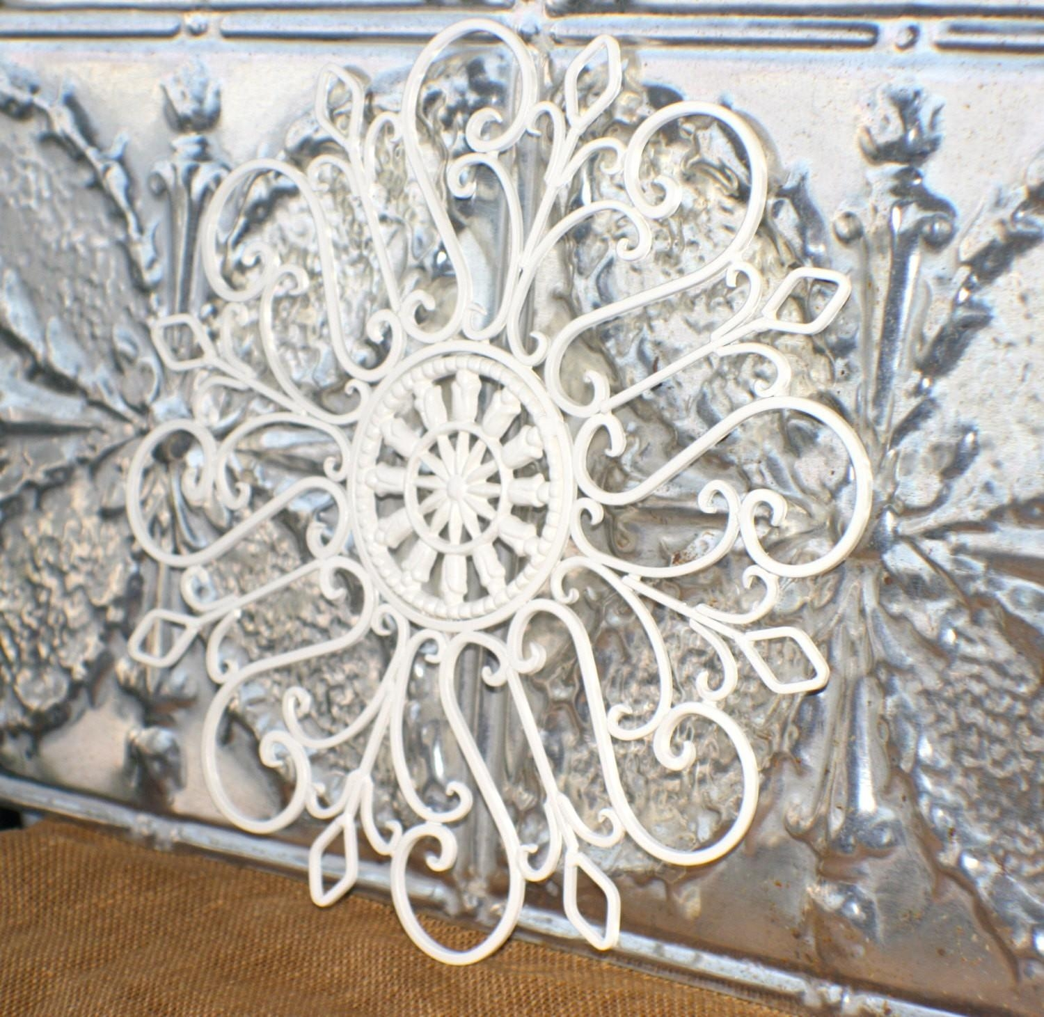 Decorative Metal Wall Art – Wall Art Design Pertaining To Cream Metal Wall Art (View 13 of 20)