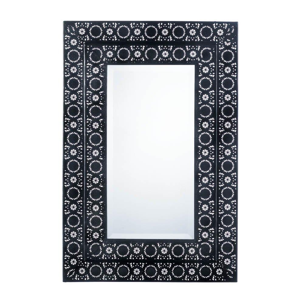 Decorative Wall Mirrors, Moroccan Style Frame Black Wall Mirror Throughout Moroccan Metal Wall Art (View 12 of 20)