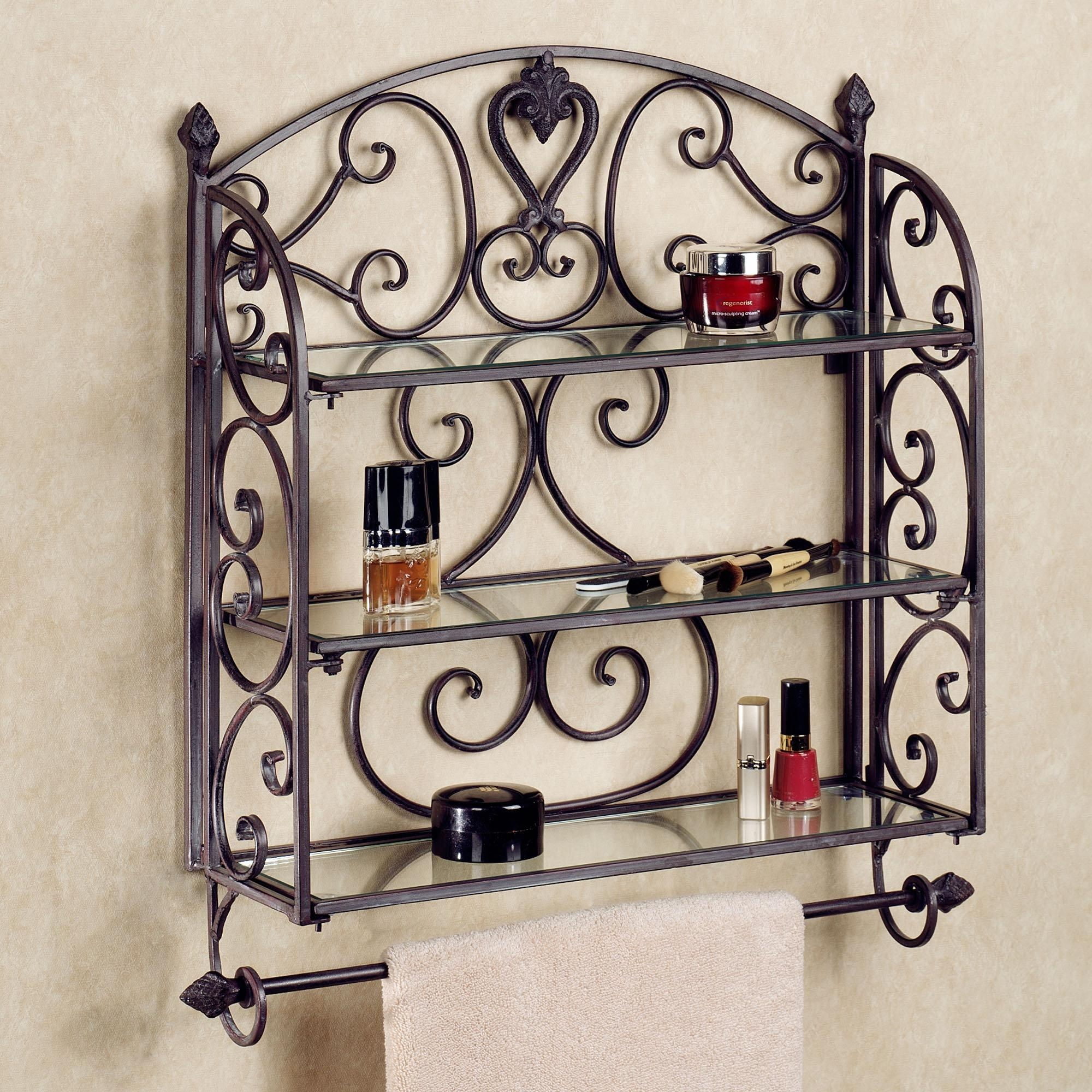 Decorative Wall Shelves For The Bookworm | The Latest Home Decor Ideas In Metal Wall Art For Bathroom (View 12 of 20)
