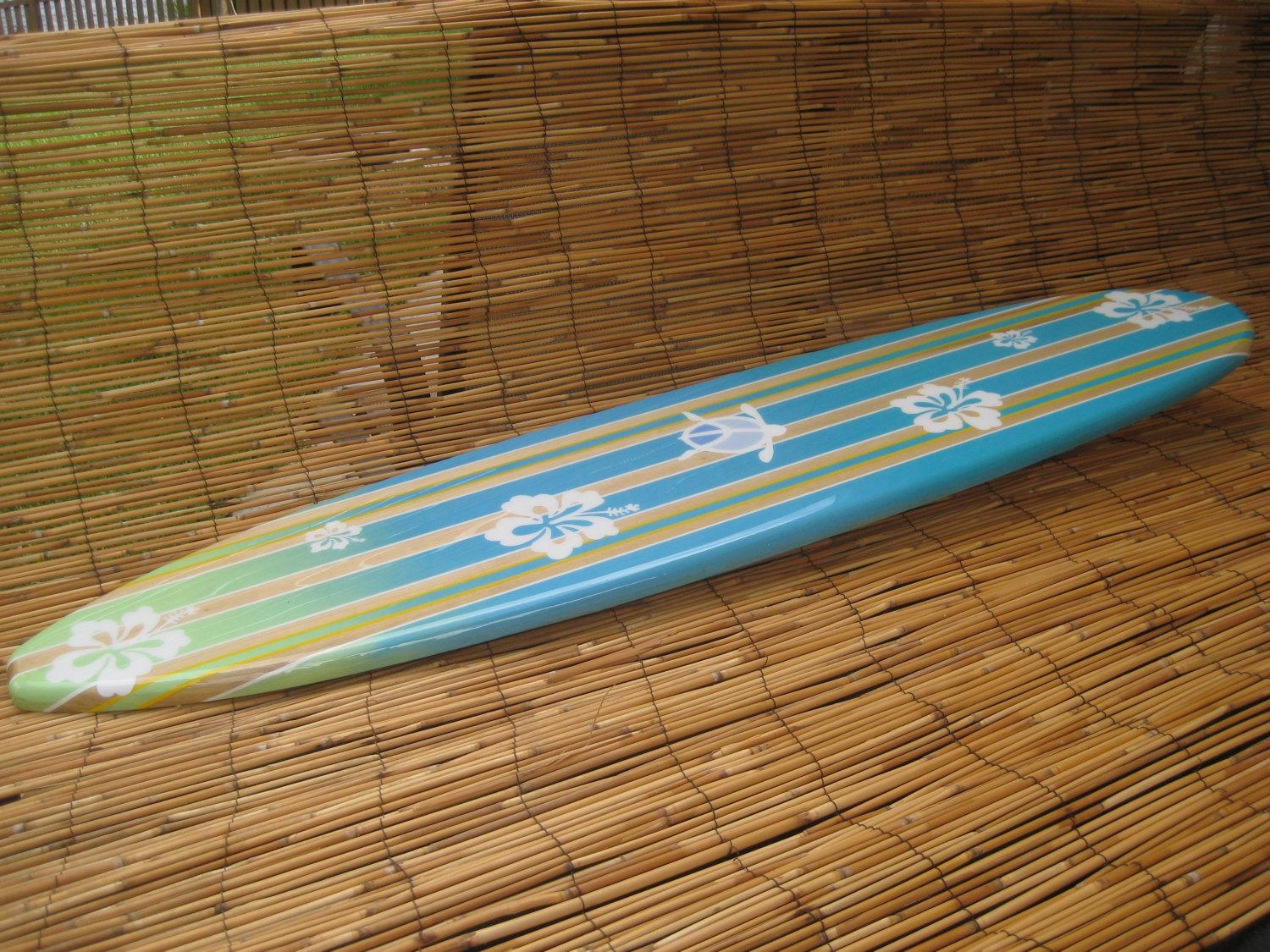 Decorative Wooden Surfboard Wall Art For A Hotel Restaurant For Decorative Surfboard Wall Art (Image 9 of 20)