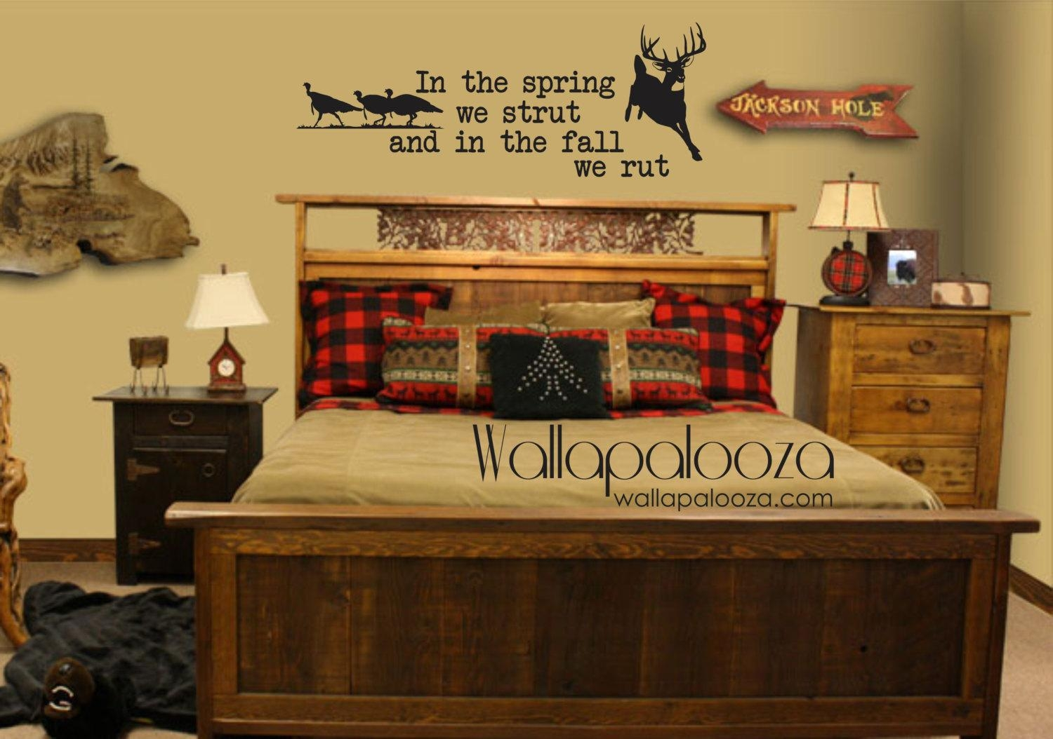 Deer And Turkey Wall Decal Nursery Wall Decal Hunting Wall Inside Camouflage Wall Art (Image 9 of 20)