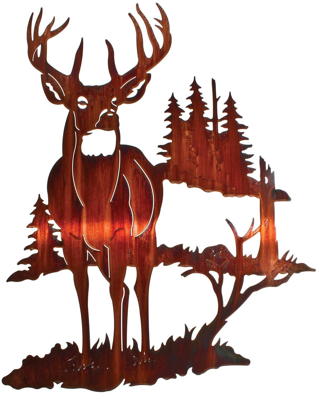 Deer Wall Art, Deer Wall Hangings, Metal Wall Sculptures Pertaining To Lazart Metal Wall Art (Image 8 of 20)