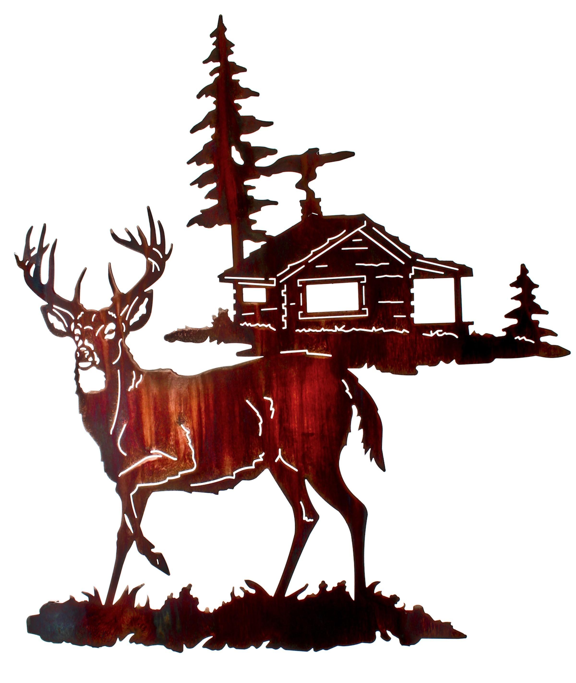 Deer Wall Art, Deer Wall Hangings, Metal Wall Sculptures With Lazart Metal Wall Art (Image 9 of 20)