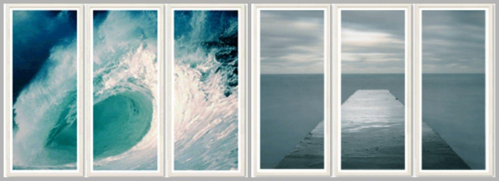 Design Tips: How To Give A Blank Wall Big Coastal Style Regarding Coastal Wall Art (Image 10 of 20)