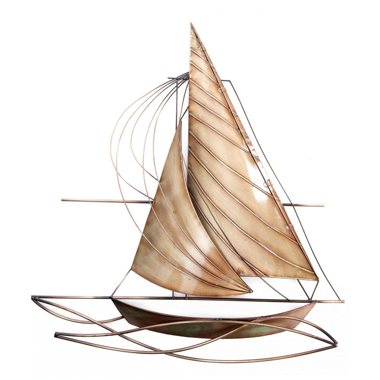 Designer Sailing Boat Metal Wall Art Regarding Sailboat Metal Wall Art (Image 6 of 20)