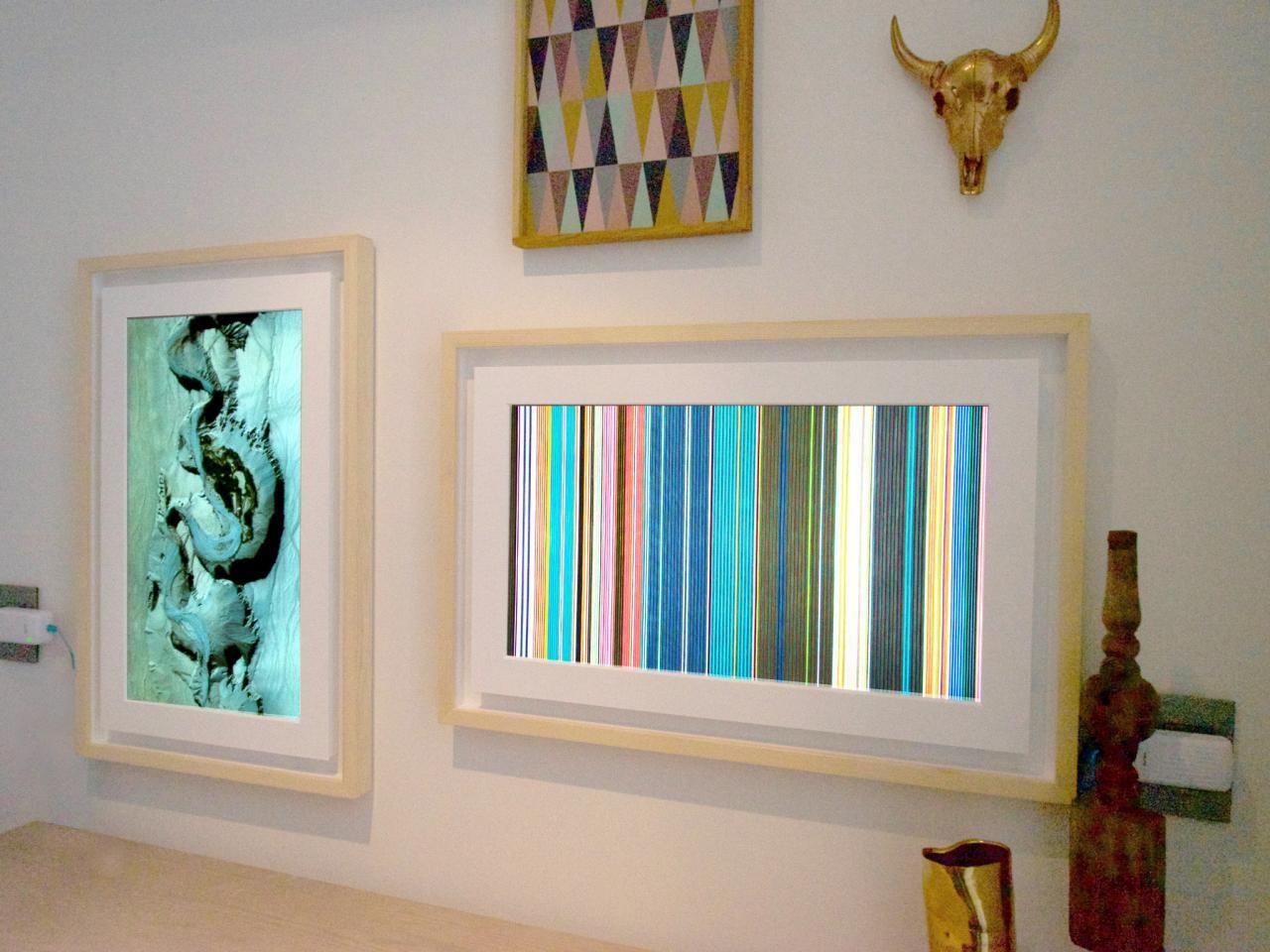 Digital Picture Frames Have Grown Up Into Wall Art   Hgtv Smart With Regard To Wall Art Frames (Image 9 of 20)