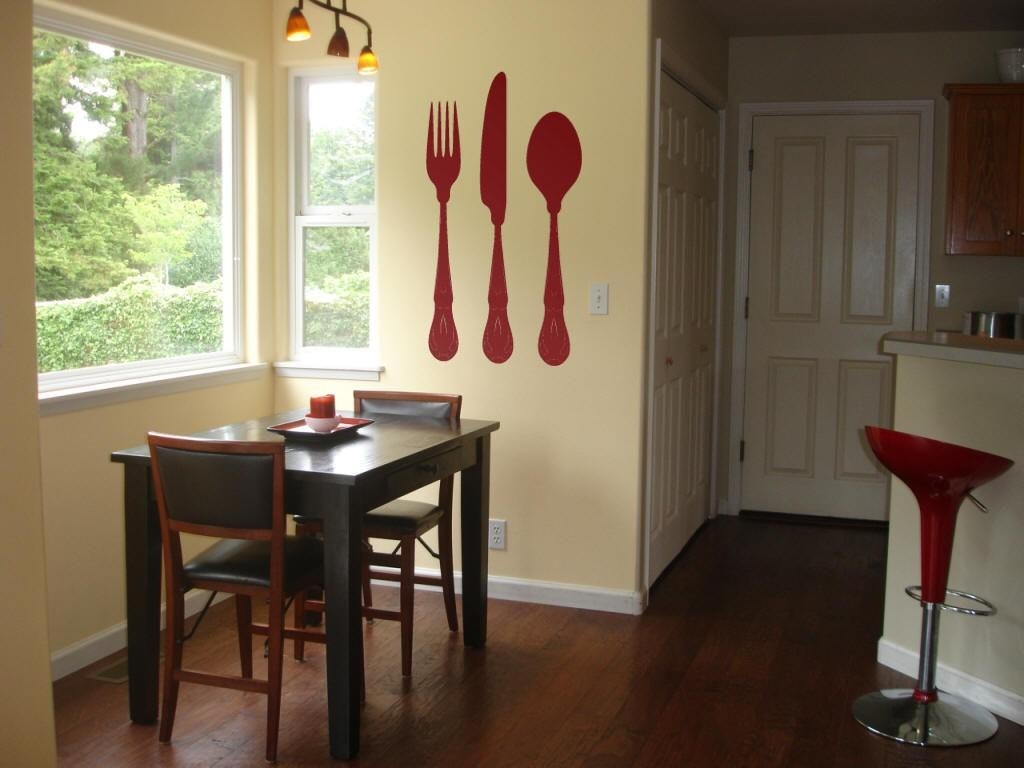 Dining Fork And Spoon Wall Decor : Good Fork And Spoon Wall Decor Throughout Big Spoon And Fork Wall Decor (Image 5 of 20)