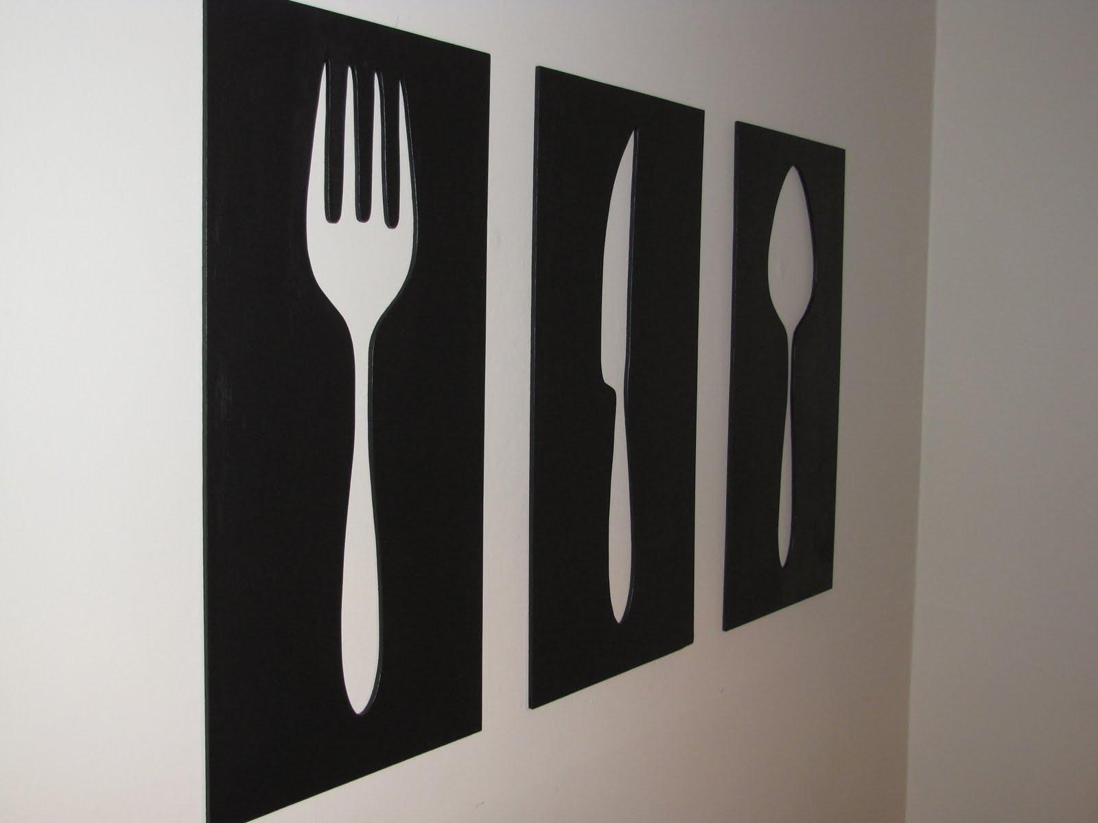 Dining Fork And Spoon Wall Decor : Good Fork And Spoon Wall Decor Within Giant Fork And Spoon Wall Art (Image 4 of 20)