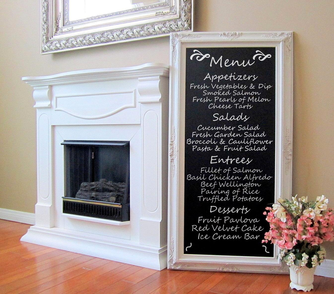 Dining Room Decor Wall Art French Furniture Chalkboard Long Inside Long Vertical Wall Art (Image 9 of 20)