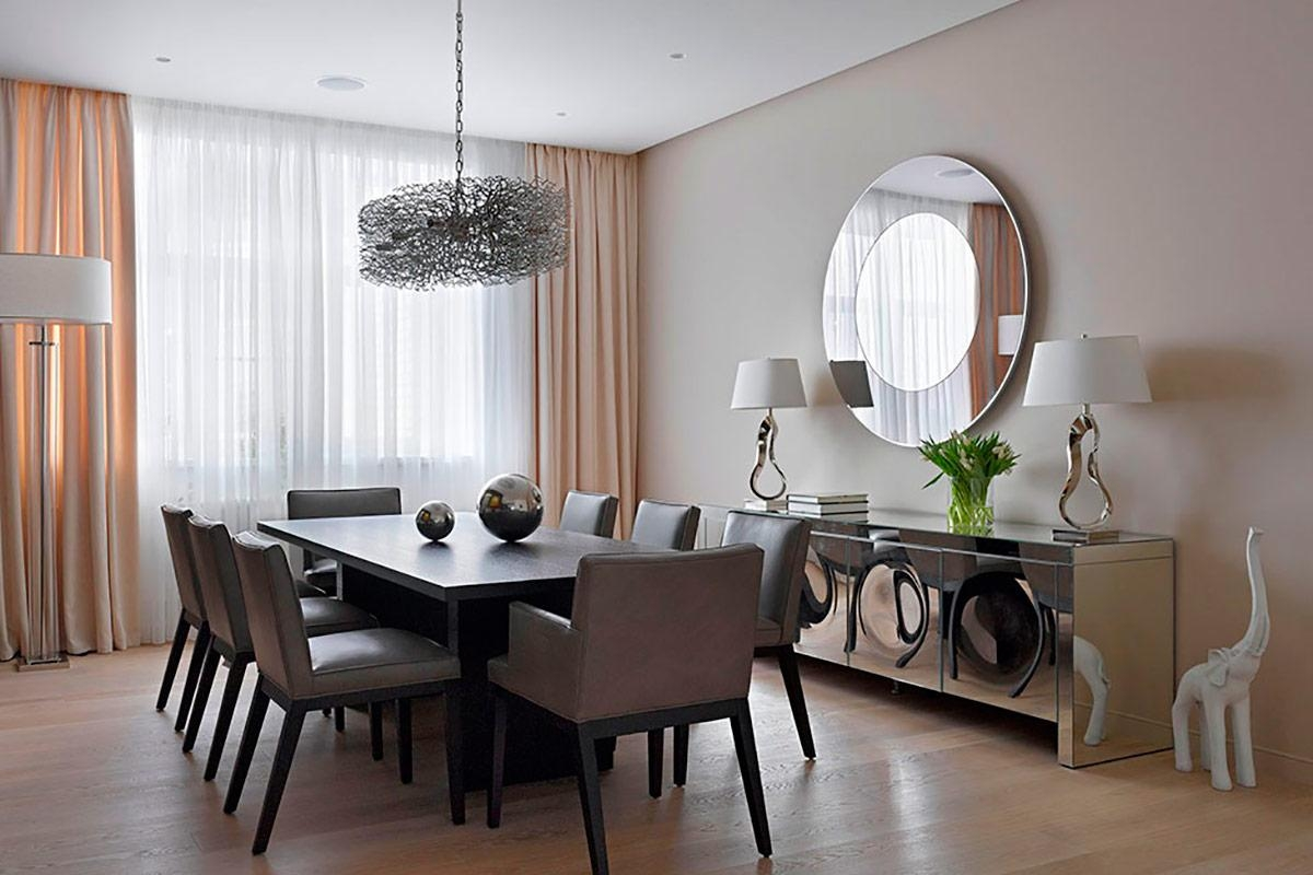 Dining Room | Flat And Layered Circle Wall Mirror Dining Room Idea Intended For Wall Art For Dining Room (View 20 of 20)