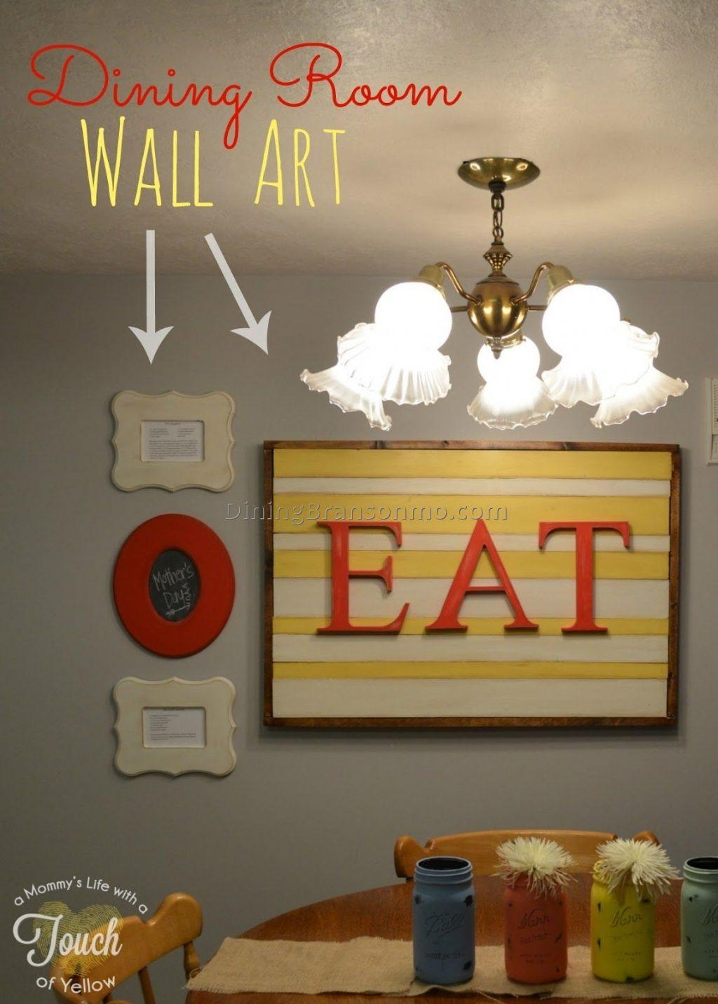 Dining Room ~ Wall Art Ideas For 2017 Dining Room 2 Decor Ideas Throughout Dining Area Wall Art (Image 9 of 20)