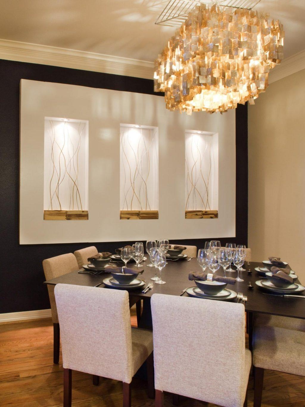 Dining Room ~ White Contemporary Wall 2017 Dining Room And Wine With Dining Area Wall Art (View 19 of 20)