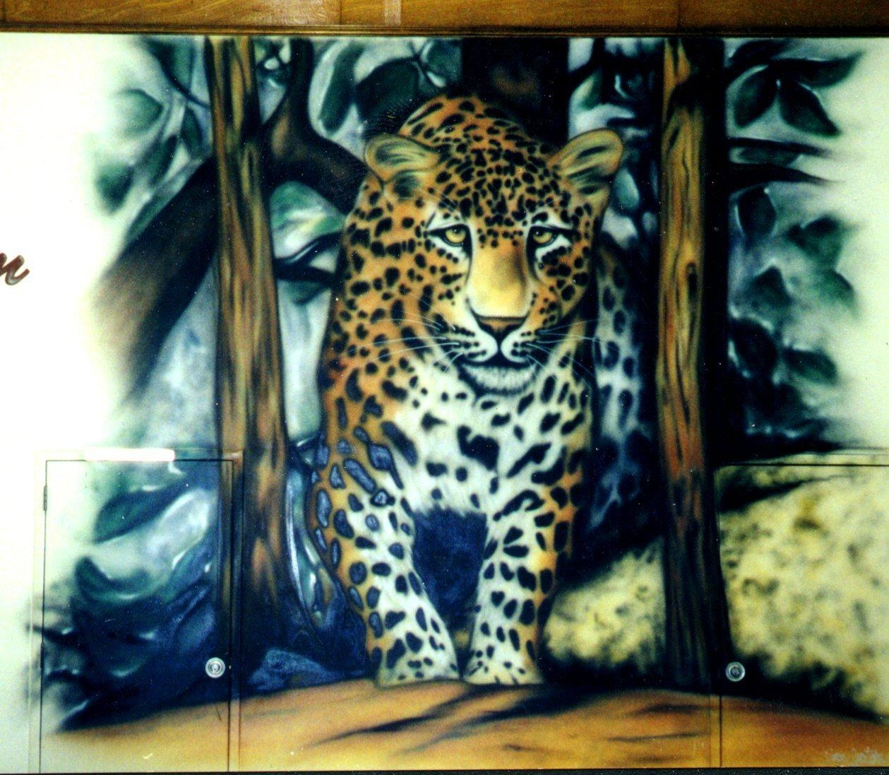 Dino's Custom Art – Airbrushed Wall And Gym Floor Mural Services Regarding Airbrush Wall Art (Image 8 of 20)